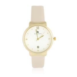 Zegarek damski na pasku beige Z2426