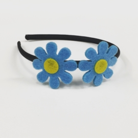 Opaska wiosenna - dwa kwiatki - OPS867