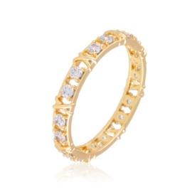 Obrączka z kryształkami Xuping PP3158