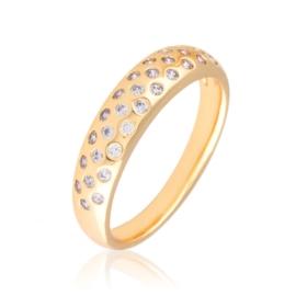 Pierścionek codzienny z kryształkami Xuping PP3159