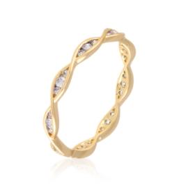Obrączka codzienna z kryształkami Xuping PP3161