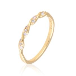 Pierścionek codzienny z kryształkami Xuping PP3162