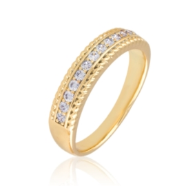 Pierścionek codzienny z kryształkami Xuping PP3170