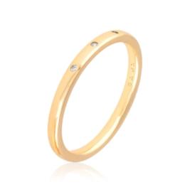 Obrączka codzienna z kryształkami Xuping PP3173