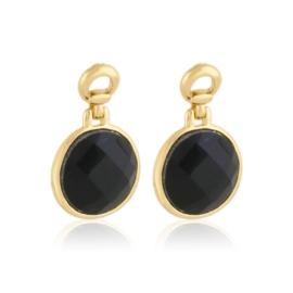 Kolczyki wiszące kryształki czarne EA3908