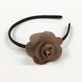 Opaska z kwiatkiem - beżowy - OPS881
