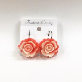 Kolczyki na biglu - kwiatki EA3917