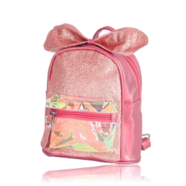 Plecak dziecięcy z kokardką - różowy - PL389