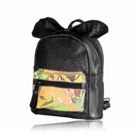 Plecak dziecięcy z kokardką - czarny - PL391