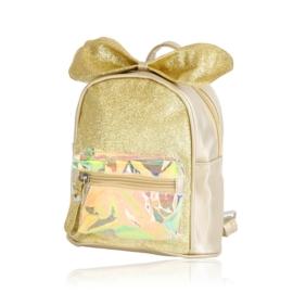 Plecak dziecięcy z kokardką - złoty - PL392