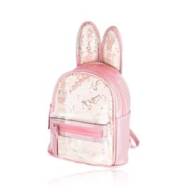 Plecak dziecięcy z uszkami - różowy - PL393