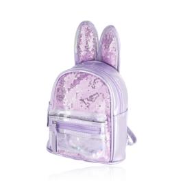 Plecak dziecięcy z uszkami - fioletowy - PL395