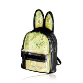 Plecak dziecięcy z uszkami - czarny - PL396