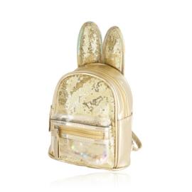 Plecak dziecięcy z uszkami - złoty - PL397