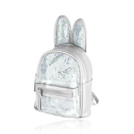 Plecak dziecięcy z uszkami - srebrny - PL398