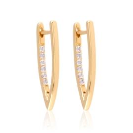 Kolczyki codzienne z kryształkami Xuping EAP16975