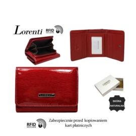 Portfel skórzany 398901-SH-RFID Red P1430