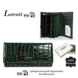 Portfel skórzany 72401-ZS-RFID Green P1446