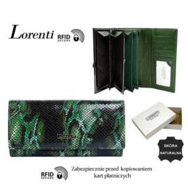 Portfel skórzany 72401-MSN-RFID Green P1448