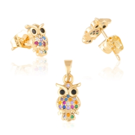 Komplet biżuterii sówki Xuping PK579