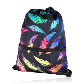 Plecak worek w piórka z kieszenią - PL402