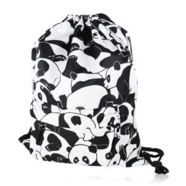 Plecak worek w pandy z kieszenią - PL404