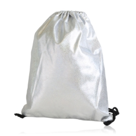 Plecak worek brokatowy silver - PL406