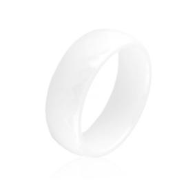 Obrączka szlifowana biała 0,8cm Xuping PP3204