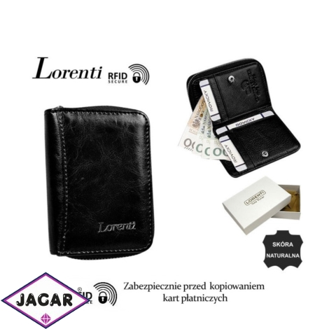 Portfel skórzany 5157-BPR-RFID Black P1472