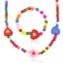 Komplet biżuterii serduszka 12szt/op - KOM488