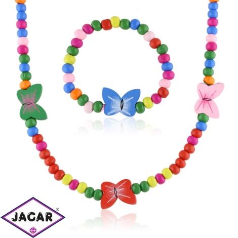 Komplet biżuterii motylki 12szt/op - KOM489