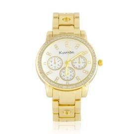 Zegarek damski na brasolecie z kryształkami Z2471