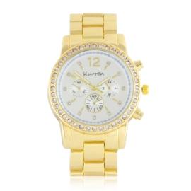Zegarek damski na brasolecie z kryształkami Z2472