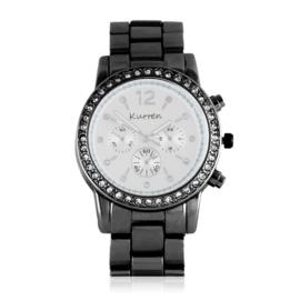 Zegarek damski na brasolecie z kryształkami Z2473