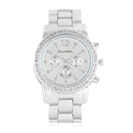 Zegarek damski na brasolecie z kryształkami Z2474
