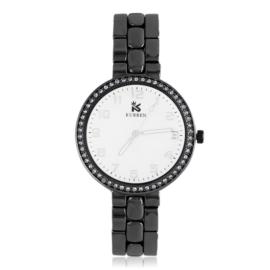 Zegarek damski na brasolecie z kryształkami Z2484