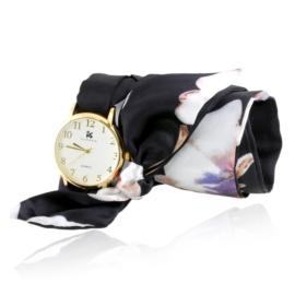 Zegarek damski na granatowej apaszce Z2496