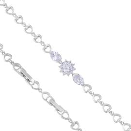 Bransoletka codzienna z kryształkami Xuping BP8579