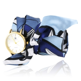 Zegarek damski na niebieskiej apaszce Z2516