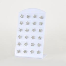 Kolczyki sztyfty kwiatki 12par EA3921