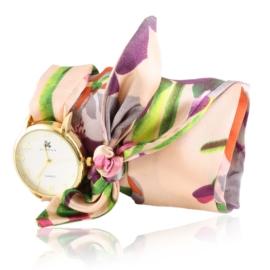 Zegarek damski na różowej apaszce Z2517