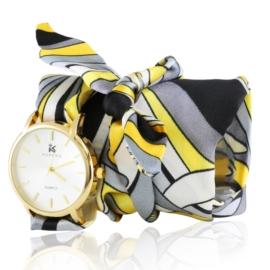 Zegarek damski na apaszce yellow Z2518