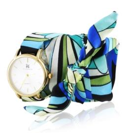 Zegarek damski na apaszce blue Z2519