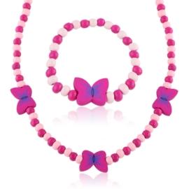Komplet biżuterii motylki mix 12szt/op - KOM490