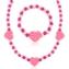 Komplet biżuterii serduszka mix 12szt/op - KOM491