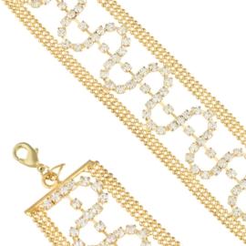 Bransoletka z kryształkami BRA3521