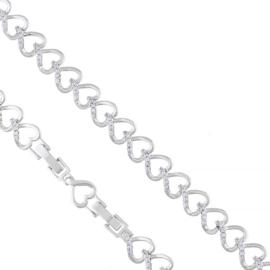 Bransoletka z kryształkami Xuping BP8625