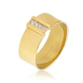 Pierścionek stalowy z kryształkami Xuping PP3212