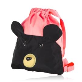 Plecak dziecięcy neon różowy - miś - PL411