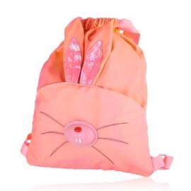 Plecak dziecięcy różowy neon - królik - PL413
